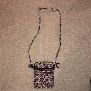 Purple floral crossbody bag